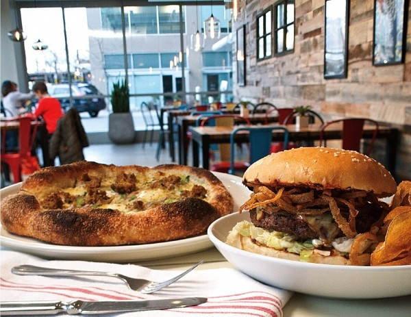 The From Scratch burger and fennel-sausage pizza - JOHN TAYLOR