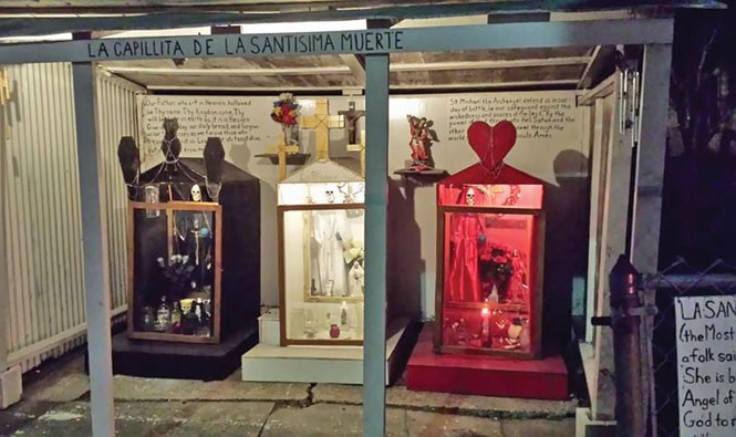 The outdoor public shrine at The New Orleans Chapel - of the Santisima Muerte - COURTESY STEVEN BRAGG