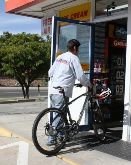 To take your bike through a door, stand between the door and the bike. - WINA STURGEON