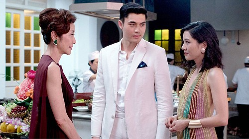 Michelle Yeoh, Henry Golding and Constance Wu in Crazy Rich Asians - WARNER BROS. PICTURES