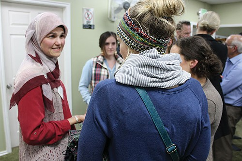 Maysa Malas-Kergaye offered insights into women's rights and the use of the hijab. - ENRIQUE LIMÓN
