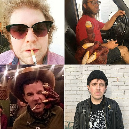 Clockwise from top left: Rocky Maldonado, Joey Mayes, Jeremy Devine and Travis Michael of The Nods. - COURTESY OF THE NODS