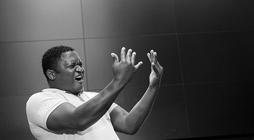 Performance poet Walter Kadiki - PAUL DUNN