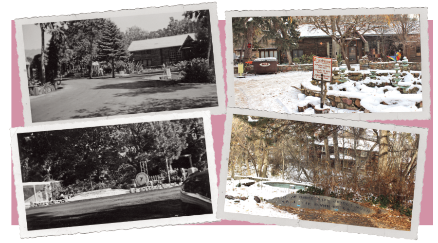 Then and now: Once Dr. George A. Allen's Xanadu, Allen Park's manicured grounds have given way to a derelict wasteland. (Archival pictures via Allen Publishing Co., Special Collections, J. Willard Marriott Library, The University of Utah) - ENRIQUE LIMÓN