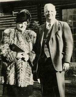 Dr. George A. Allen and his wife, Ruth. - SPECIAL COLLECTIONS, J. WILLARD MARRIOTT LIBRARY, THE UNIVERSITY OF UTAH
