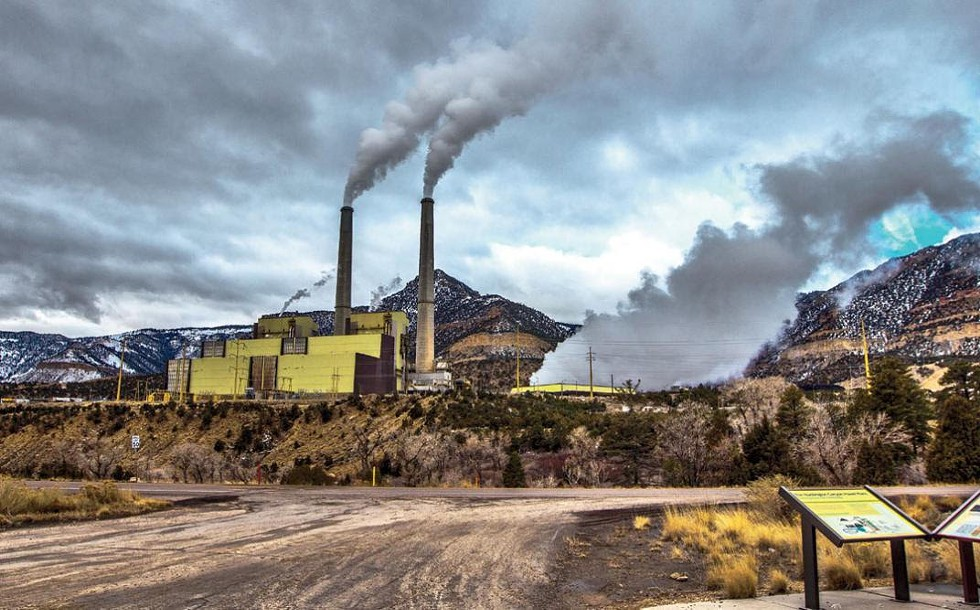 Emissions from PacifiCorp's Huntington coal-fired power plant, one of two such facilities in Utah, blow into neighboring national parks. - ALYN JOHNSON/SIERRA CLUB