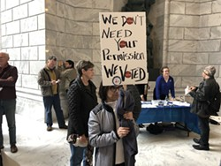 A crowd 300-strong gathered at the Capitol on Monday to decry red tape surrounding Prop 3, the state's Medicaid Expansion Initiative. - KELAN LYONS