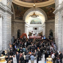 A bird's-eye view of Friday's Tourism Day on the Hill. - KELAN LYONS