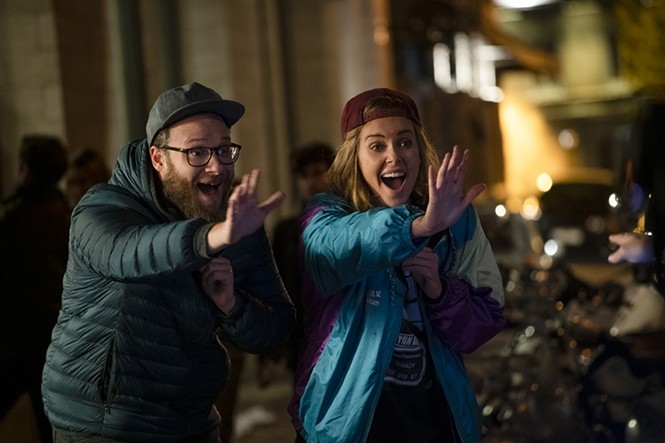 Seth Rogen and Charlize Theron in Long Shot - LIONSGATE FILMS