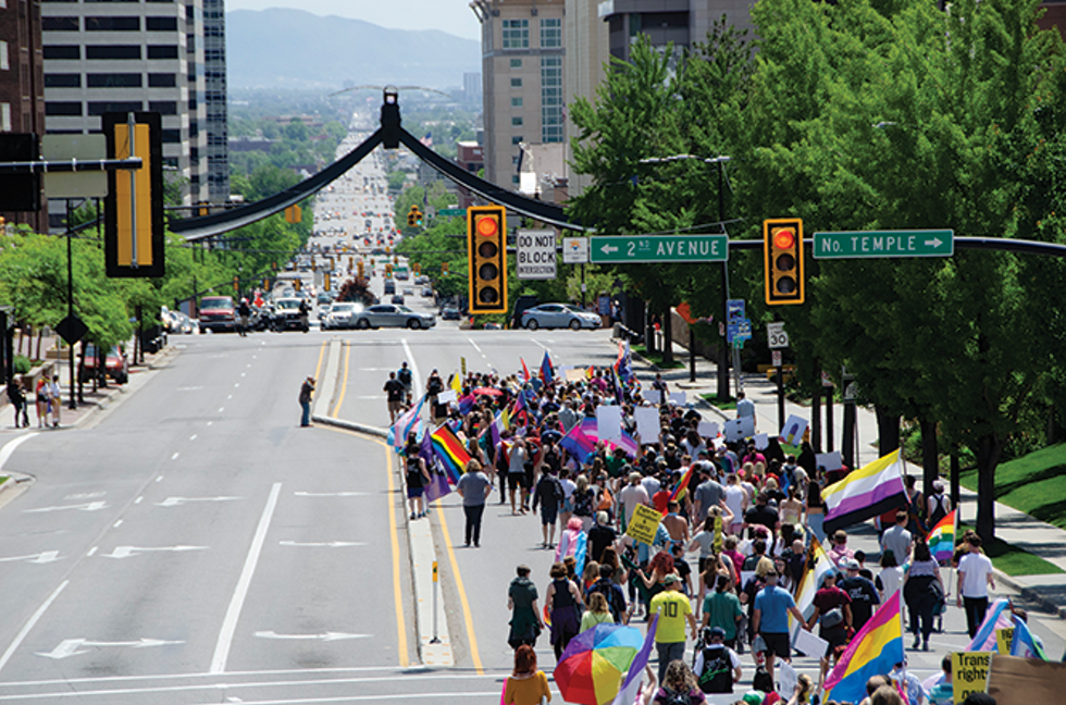 Ahead of the annual Pride events in June, activists held a rally at the Capitol to raise awareness of the goal behind Pride festivals around the country. - ISAIAH PORITZ