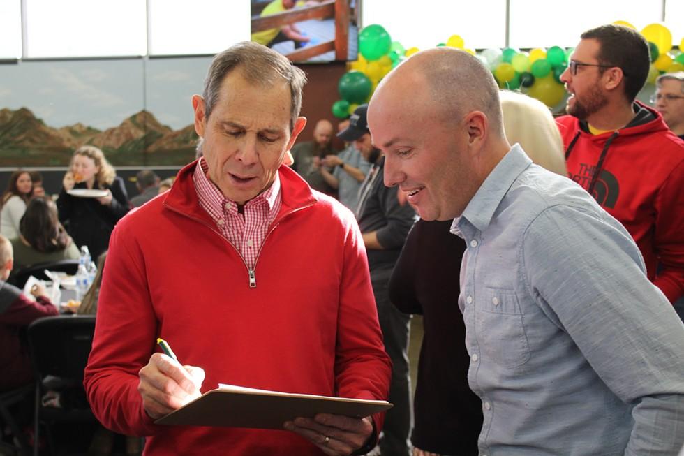 Rep. John Curtis, R-Utah, lends his signature to Cox's campaign. - ENRIQUE LIMÓN