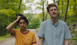 Sunita Mani and John Reynolds in Save Yourselves!