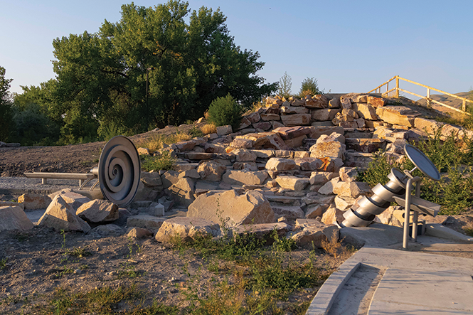 A new public plaza in Salt Lake City, scheduled to open this fall, will feature a man-made waterfall and creek bed with interactive features, representing a new approach to stormwater runoff treatment using natural systems to improve water quality. - JORDAN ALLRED