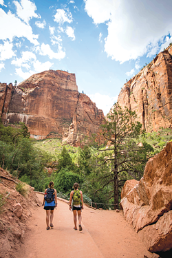 It takes some planning to hike the  Zion Traverse Trail. But once you get there, you'll experience the solitude and stillness of the national park wilderness - FRANCES GUNN ON UNSPLASH