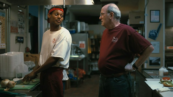 Shane Paul McGhie and Richard Jenkins in The Last Shift - SONY PICTURES