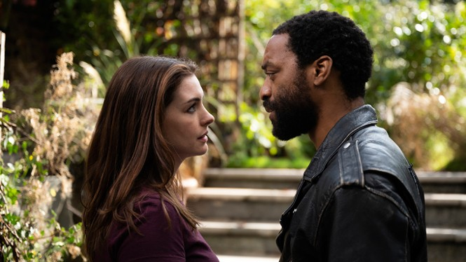 Anne Hathaway and Chiwetel Ejiofor in Locked Down - HBO MAX