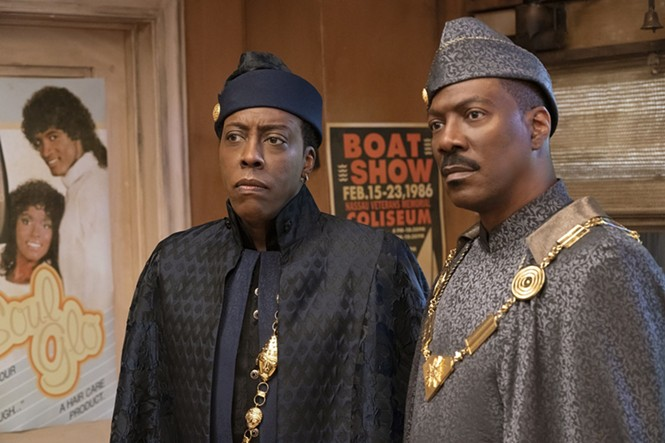 Arsenio Hall and Eddie Murphy in Coming 2 America - AMAZON PRIME