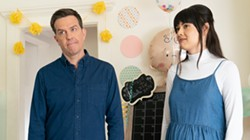 Ed Helms and Patti Harrison in Together Together - BLEECKER STREET FILMS