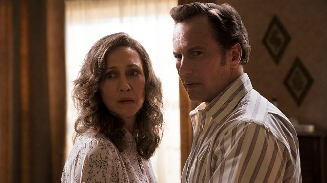 Vera Farmiga and Patrick Wilson in The Conjuring: The Devil Made Me Do It - WARNER BROS. PICTURES