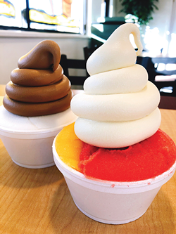 The Craze from Soda Crazy in Layton is made with layers of custard and Italian ice - MIKA LEE AND CAIT LEE