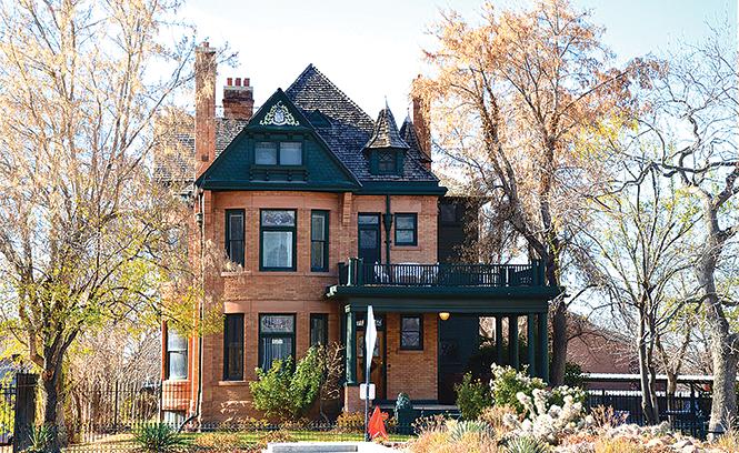 The Gibbs-Thomas-Hansen House on West Temple was built in 1895 for Gideon Gibbs.