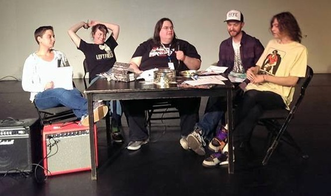 From Dungeons & Comedy and Other Opinions(L-R) Natashia Mower, Abi Harrison, Nick, Christopher Stephenson & Jackson Banks.