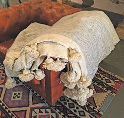 Handmade Moroccan-wool - blanket (Bohem)