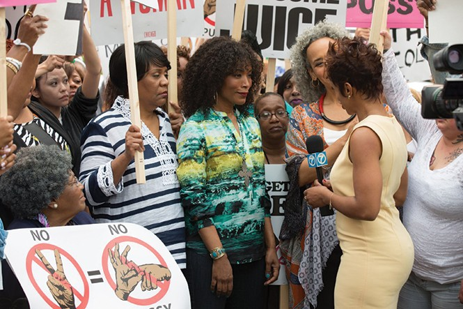 Angela Bassett, center, in Chi-Raq