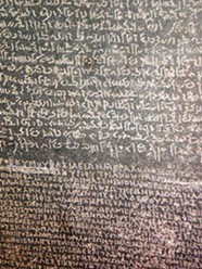 Detail from the Rosetta Stone,  the British Museum