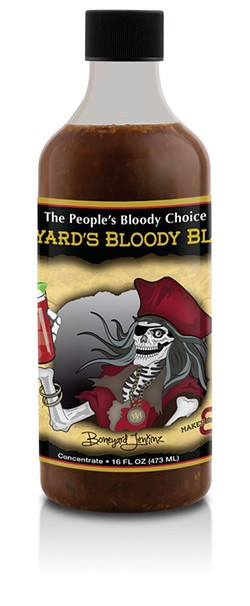 Boneyard's Bloody Blend is carried at Ogden's Own Distillery and Boozetique.