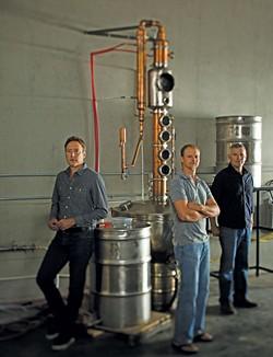Beehive Distilling co-founder (L-R) Ostling, Chris Barlow and Matt Aller