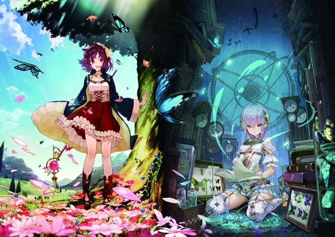 Your hero Sophie on the left, and your book-turned-woman Plachta on the right. - KOEI TEMCO