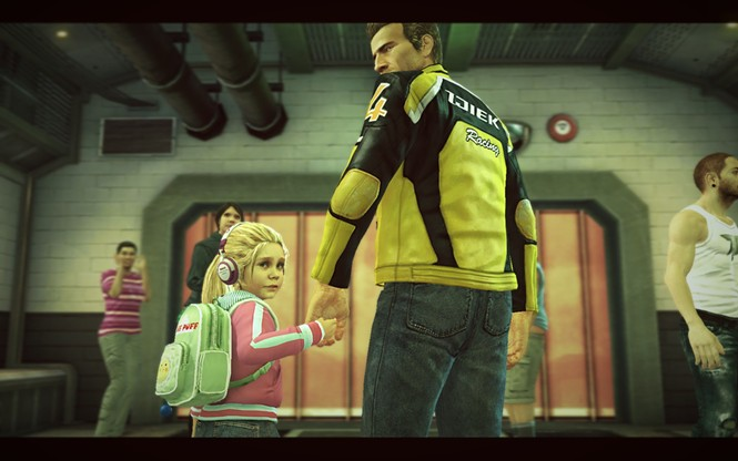 My little girl is a zombie in treatment, but it's cool, let's just store her down here with the survivors. - CAPCOM