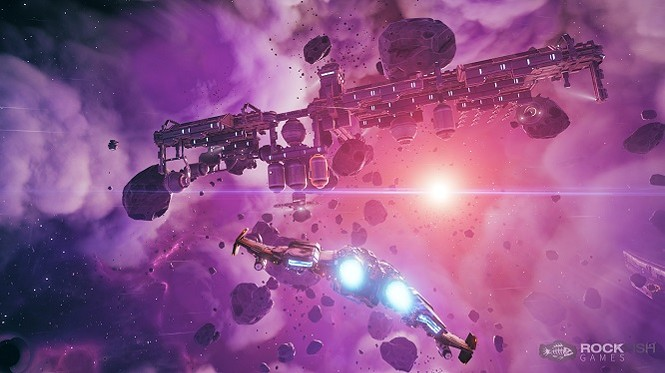 It's all purple and wondrous! Except for the mining facility in the way. - ROCKFISH GAMES