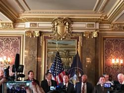 Sen. Mike Lee, R-Utah, at Monday's press conference. - DW HARRIS