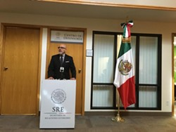 Luis Franco, Vice Consul of Mexico in Salt Lake City. - DW HARRIS.