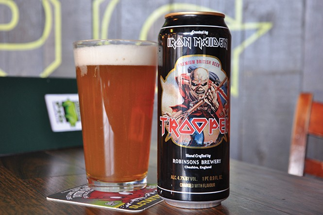 The Iron Maiden Trooper beer at Green Pig Pub - DEREK CARLISLE