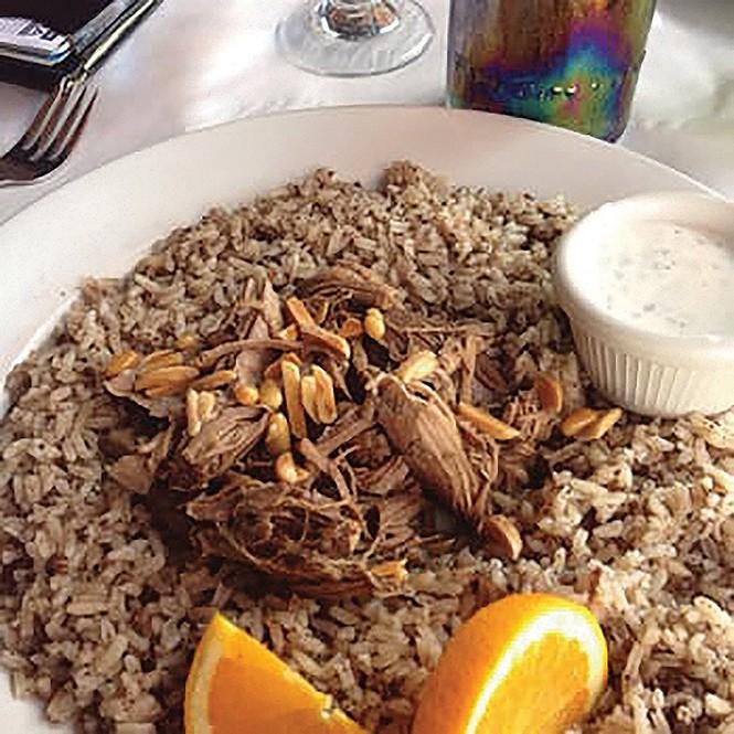Rice dolaa at Mazza - BRENDEN GRANT