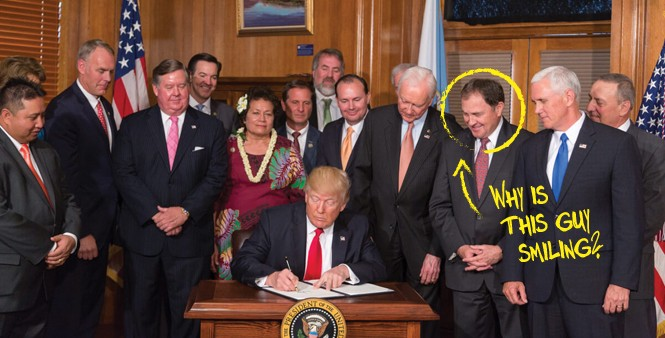 President Trump Signs the Antiquities Act 26, April 2017 - SHEALAH CRAIGHEAD