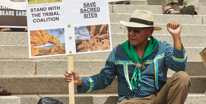 Utahns came out in droves to the State Capitol on May 6 to support Bears Ears and Grand Staircase Monuments. - SARAH ARNOFF
