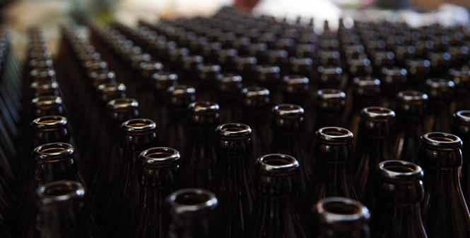 8. Pristine bottles waiting to be filled