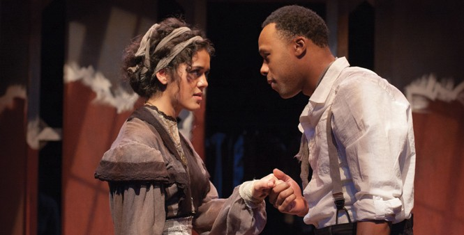 Kalyn West and Carleton Bluford in The Third Crossing - COURTESY PLAN-B THEATRE