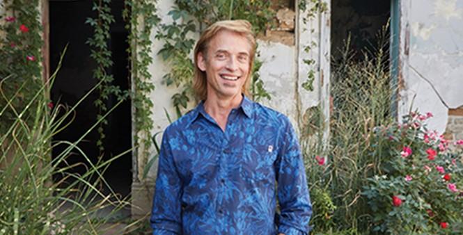 Norm Nelson in his hidden Main Street garden - STEVEN VARGO