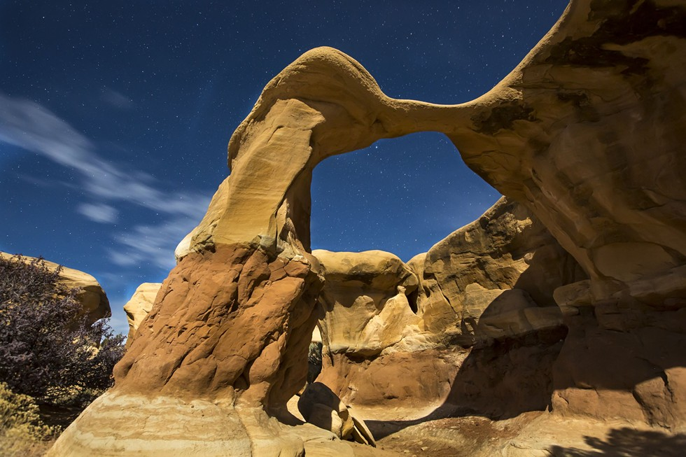 A moonlit arch over Grand Staircase-Escalante National Monument - BOB WICK