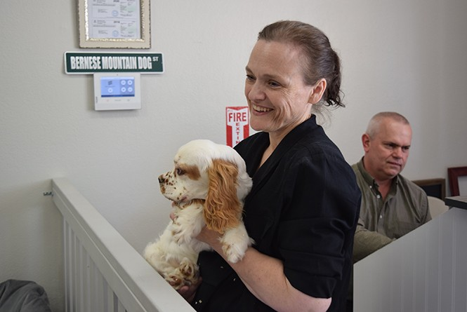 After facing opposition in Sandy, Lizzy hulet opened her new puppy store in West Jordan. - RAY HOWZE