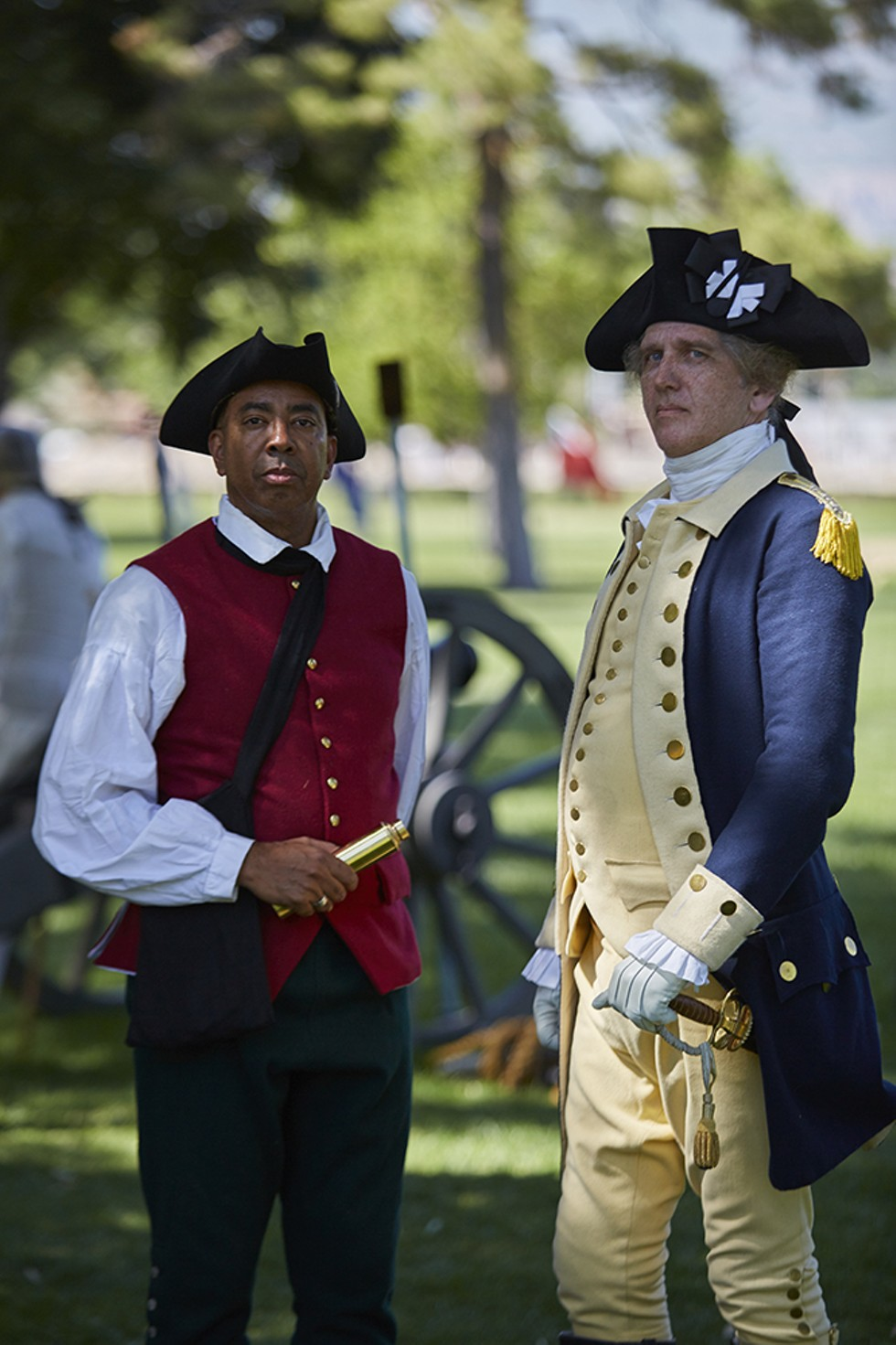 "Patrick Martin as William ""Billy"" Lee and Dan Shippey as George Washington - STEVEN VARGO"