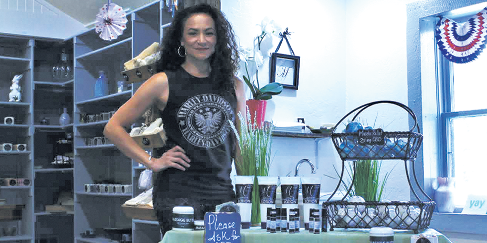 Daniella Lucero helps make and sell CBD-infused bath products. - JORDAN FLOYD