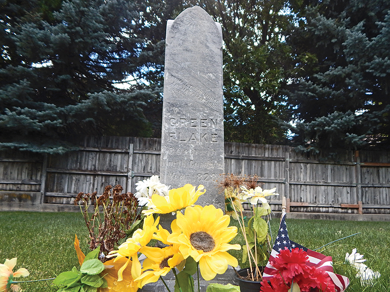 The grave marker for one of the first black Mormon pioneers can be found at the Union Fort Pioneer Cemetery in Cottonwood Heights. - PETER HOLSLIN