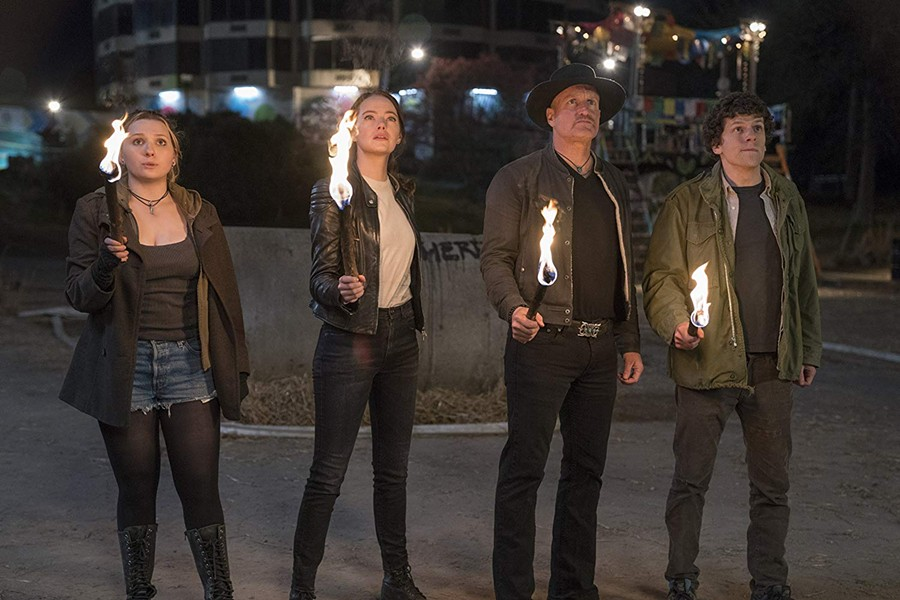 Abigail Breslin, Emma Stone, Woody Harrelson and Jesse Eisenberg in Zombieland: Double Tap - SONY PICTURES