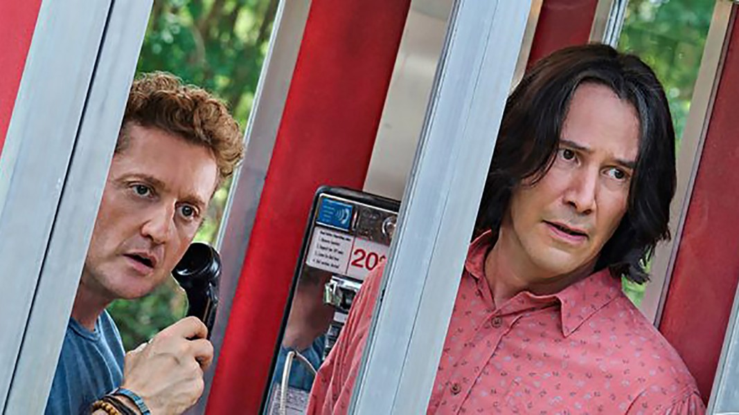 Alex Winter and Keanu Reeves in Bill & Ted Face the Music - LIONSGATE FILMS